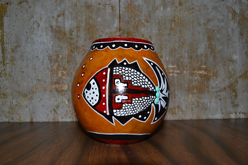 Small Fish Painted Gourd Vase