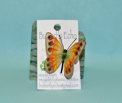 Butterfly Pin - Yellow/Orange Fantasy - Med