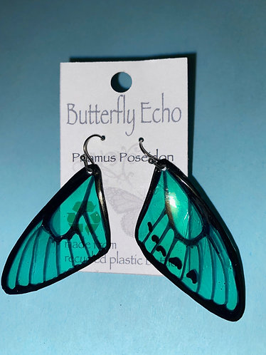 Butterfly  Earrings - Priamus Poseidon Style