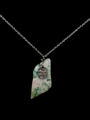 """Mariposite Necklace w""""Made with Love"""" Charm - 18"""" Chain"""