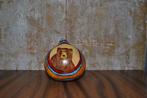 Yosemite Bear Painted Gourd