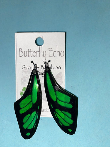Butterfly  Earrings - Scarce Bamboo Page Style