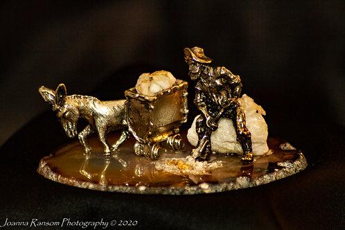 Miner and Mule Figurine