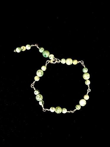 Mariposite Bracelet with Round Beads