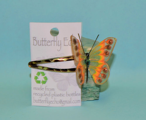 Butterfly Hair Clip -  Single - Orange, Yellow, Gold Fantasy