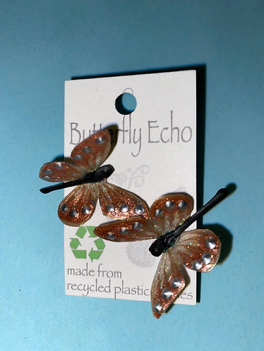 Butterfly Earrings-Posts- Copper in Color