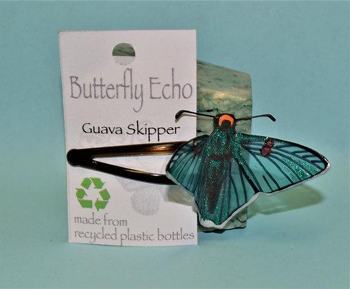 Butterfly Hair Clip -  Single - Guava Skipper