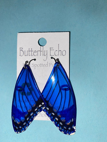 Butterfly  Earrings - Red Spotted Purple Admiral Style