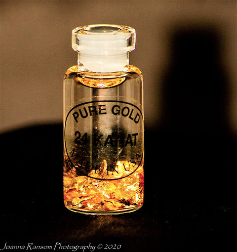 Gold Vial Small