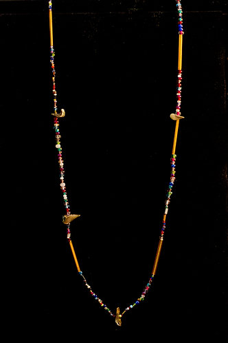 Julia Parker Necklace with Stones and Beads - 19 inch