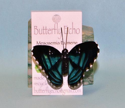 Butterfly Pin - Mesosemia Eumene - Med