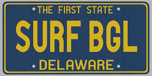Beach Towel (License Plate)