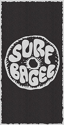 Beach Towel (B+W Circle Bagel)
