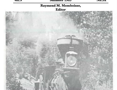 Vol.9 No.3A First in the West: The Sacramento Valley Railroad (Print Copy)