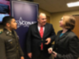 Ambassador Cavanaugh speaks with students and cadets at 2018 Texas A&M Student Conference on National Affairs (SCONA)