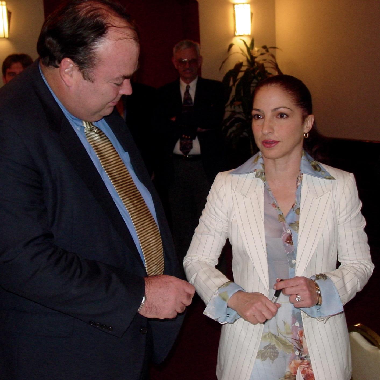 With Gloria Estefan