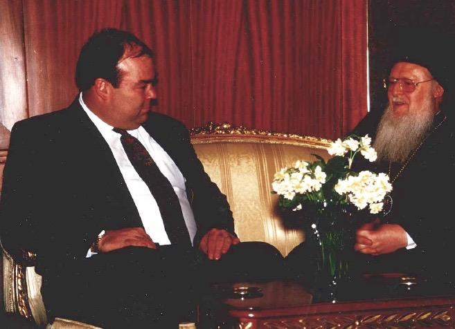 With Patriarch Bartholomew I