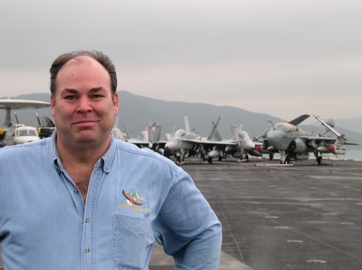 On USS Kitty Hawk, Hong Kong Harbor