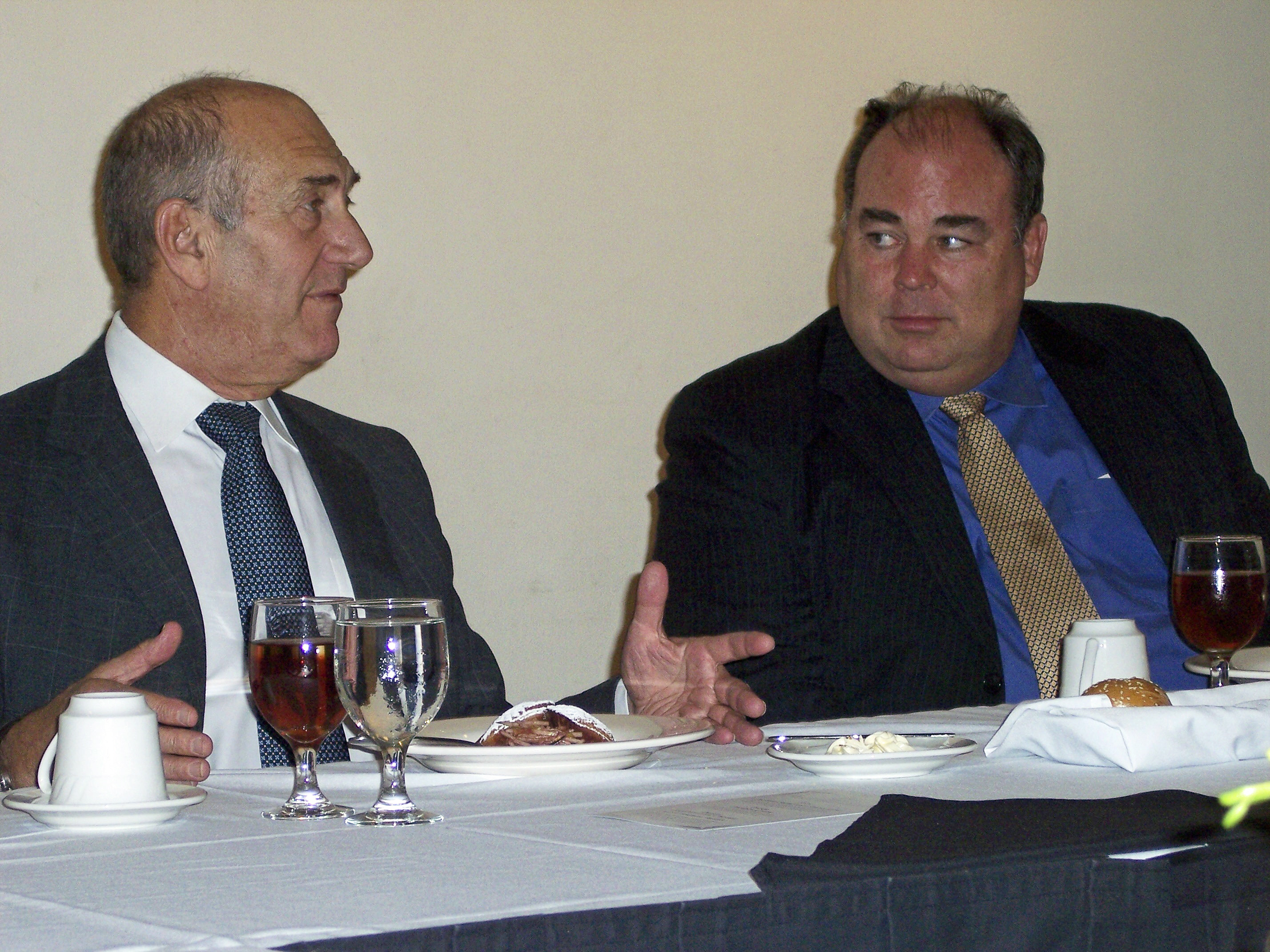 Cavanaugh and  Israel PM Olmert