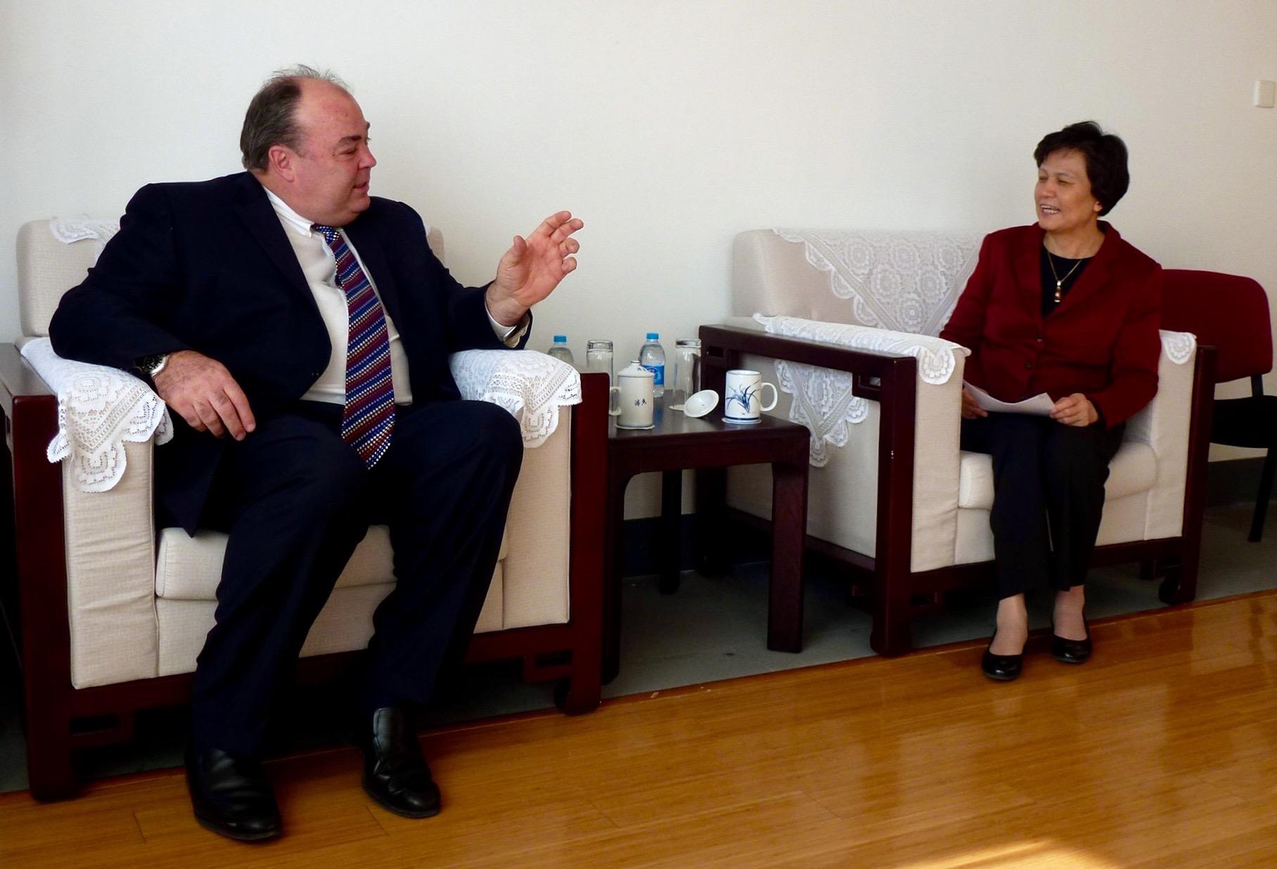 Cavanaugh and Vice Minister Xu Lin