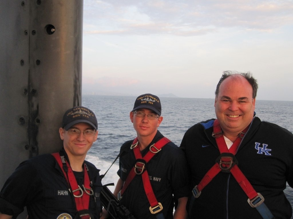 Aboard USS Louisville in Pacific