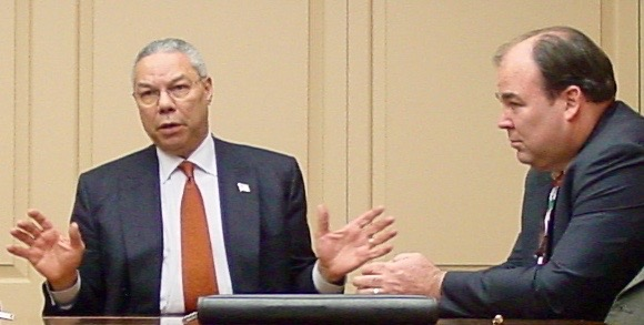 With Secretary of State Colin Powell