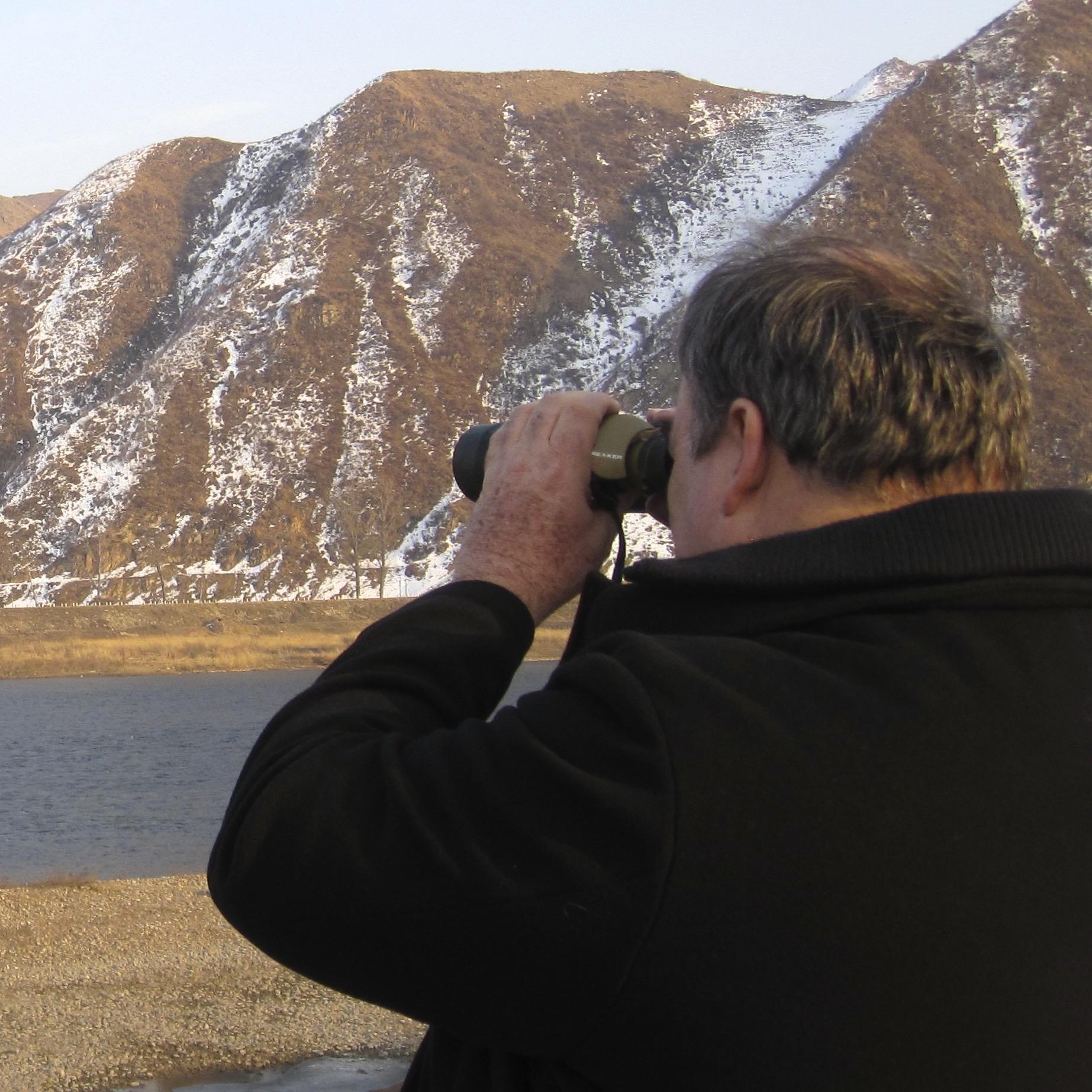 Looking across Yalu into North Korea