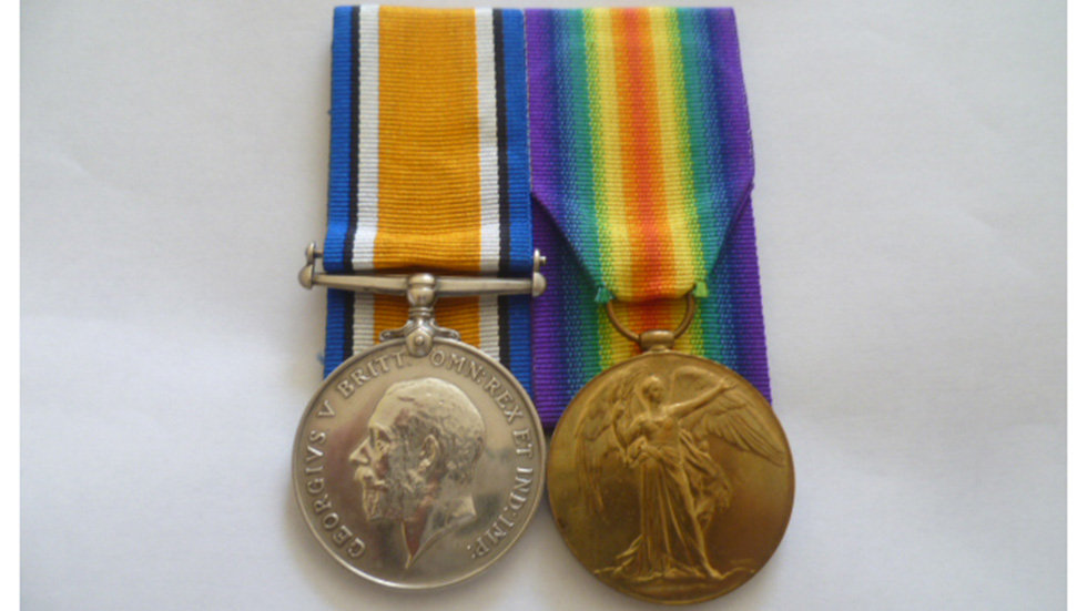 WW1 Pair Awarded to Pte William D White