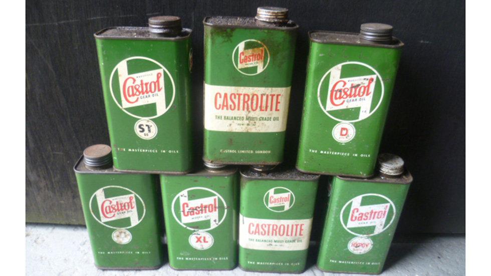 Castrol Various Quart Oil Cans