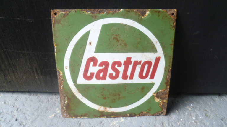 Castrol Square Enamel Sign
