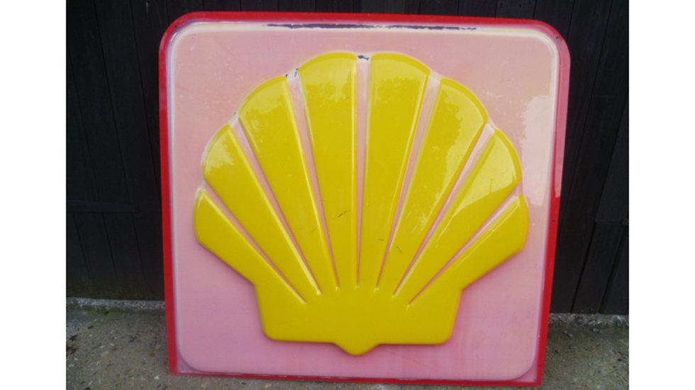 Shell Plastic Forecourt Sign Circa 1970s