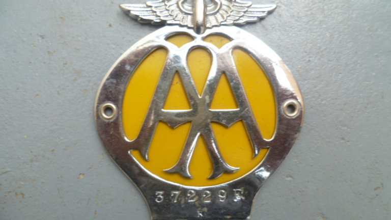 AA Badge Chrome Circa 1940's