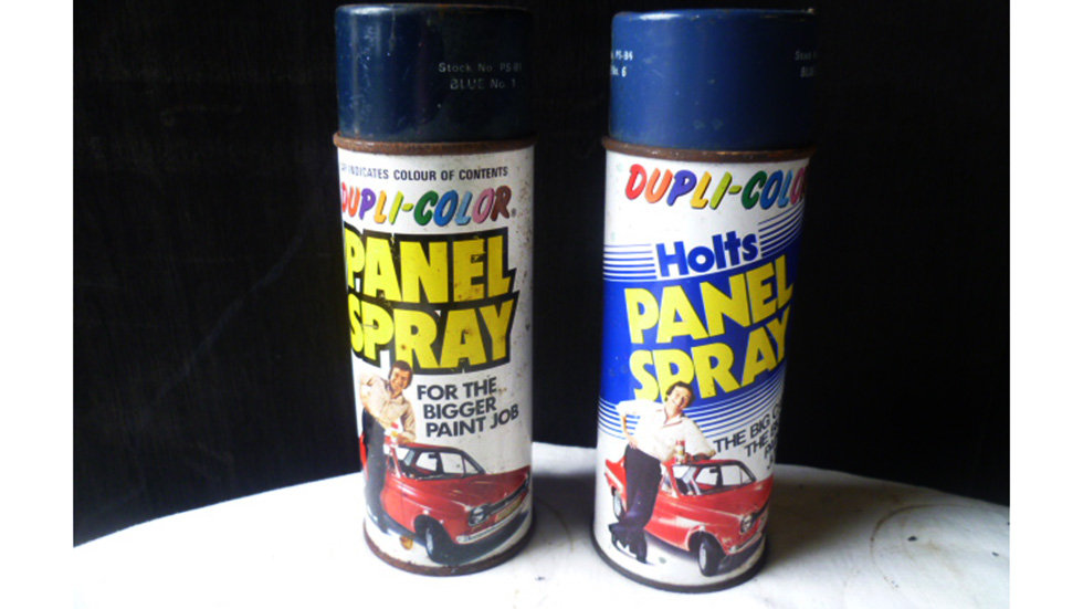Panel Spray Tins - 1970's