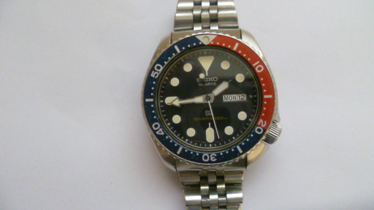 Seiko Divers Watch Circa 1980's Pepsi Dial