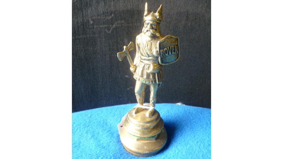 Rover Viking Mascot Brass Finish