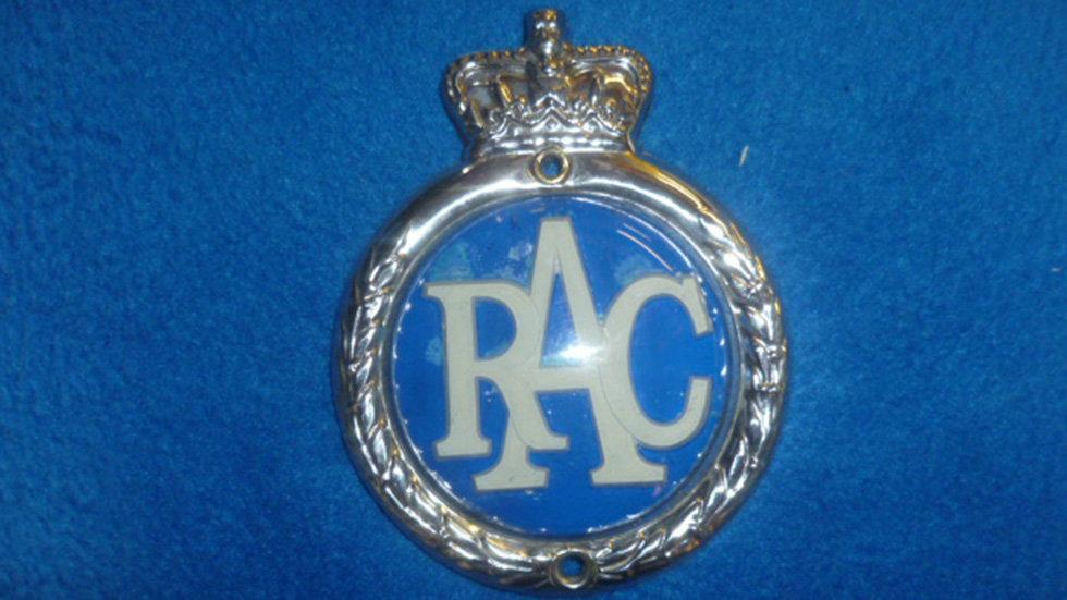 RAC Plastic With Embossed Laurels