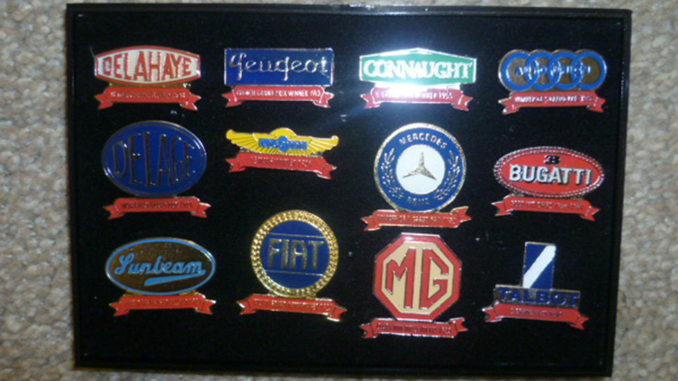 Racing Lapel Badges Selection To Include Mg/bugatti/sunbeam Ect