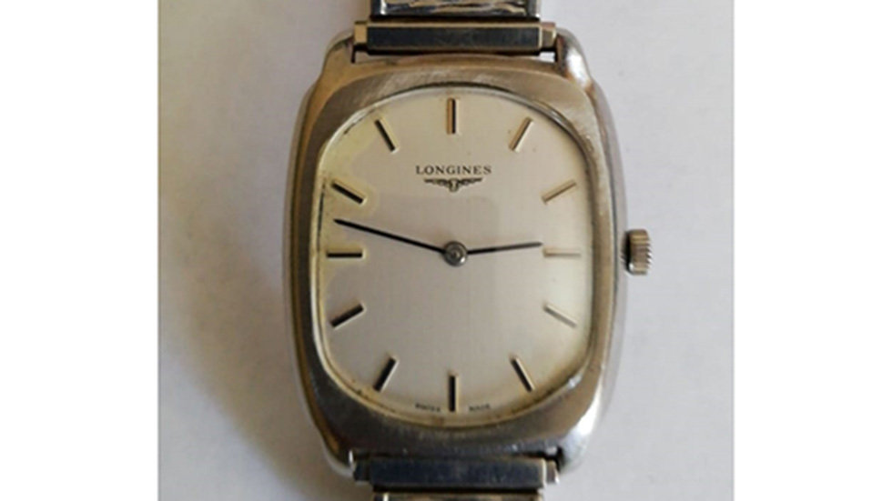 Longines. Stainless Steel Case With Matching Flex Strap