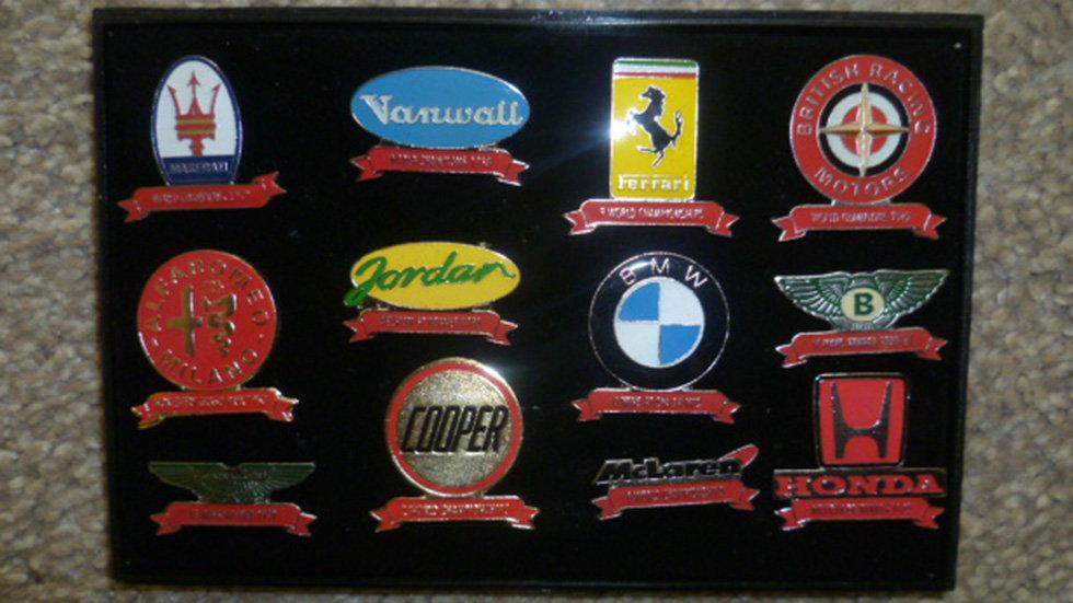 Racing Lapel Badges Selection To Include -masarati/ferrari/bmw Ect