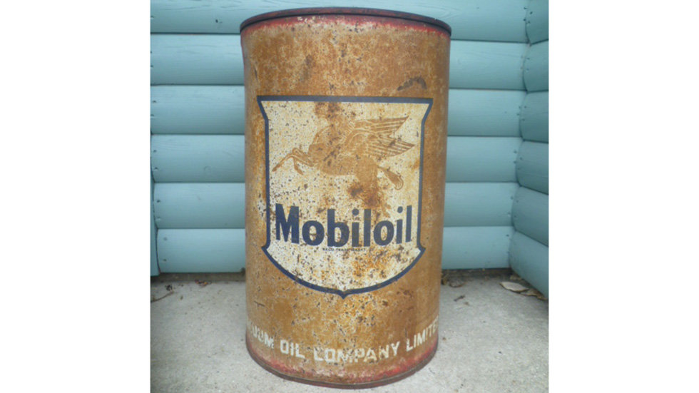 Mobiloil Oil Drum