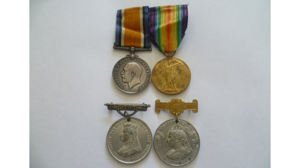WW1 Pair Awarded to Corporal Ernest McBean