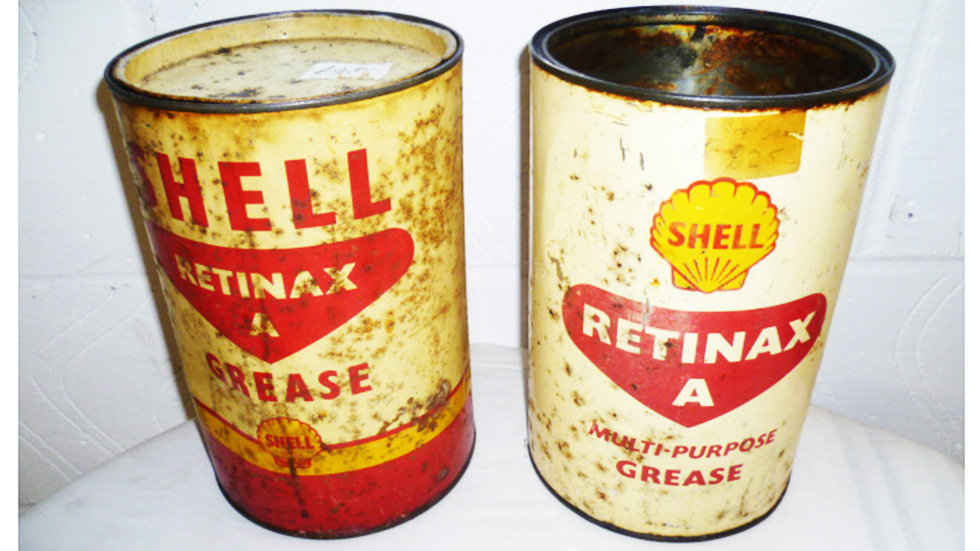 Pair of 5LB Shell Retinex Grease Tubs