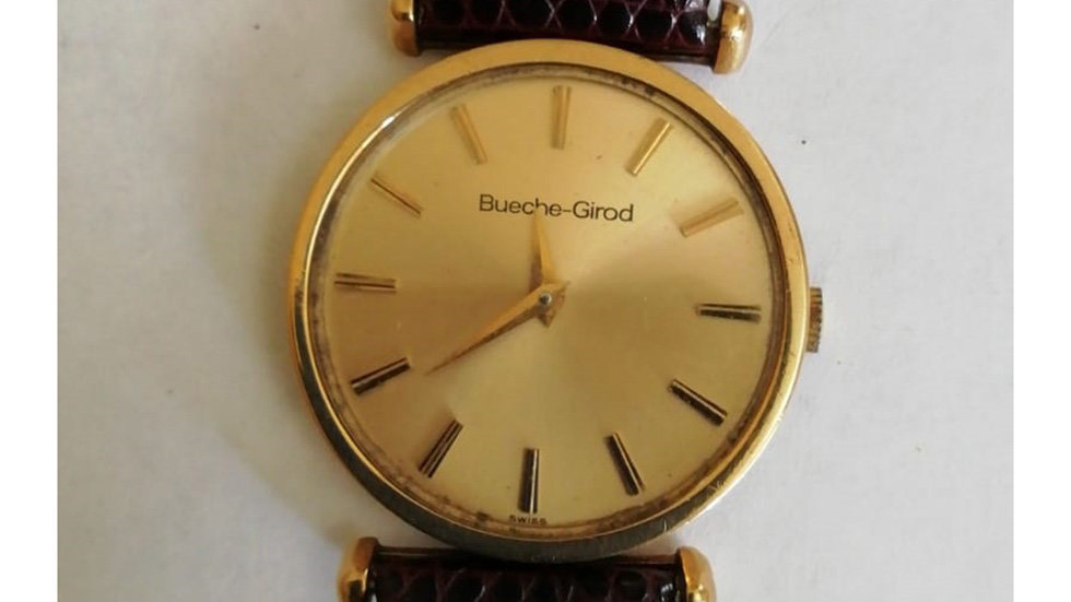 Bueche-girod . 9crt Gold.