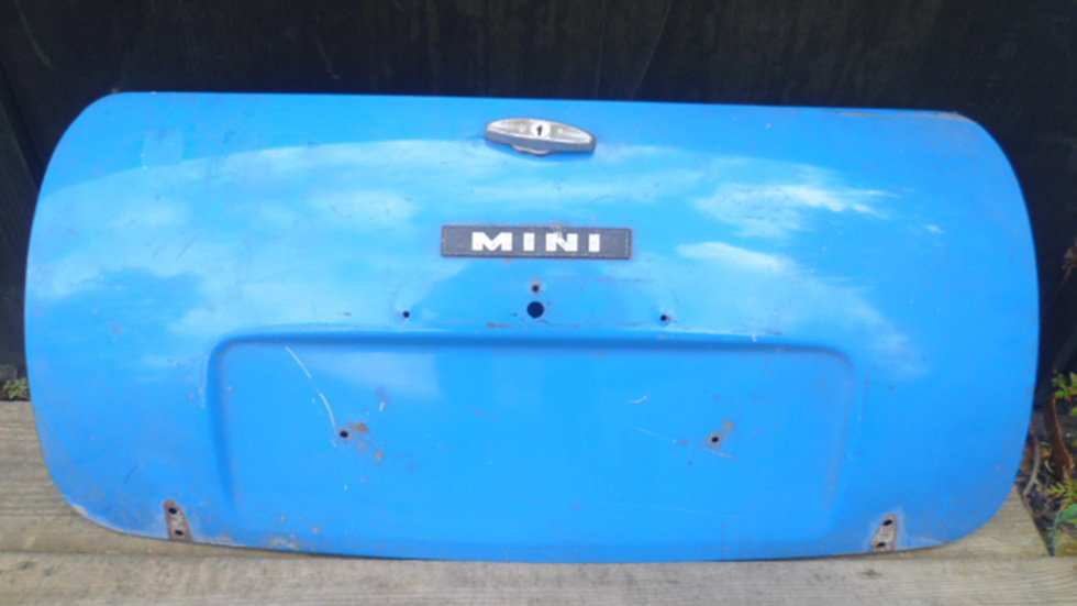 Mini Mk111 Boot Lid. Light Blue, With Badge And Handle.