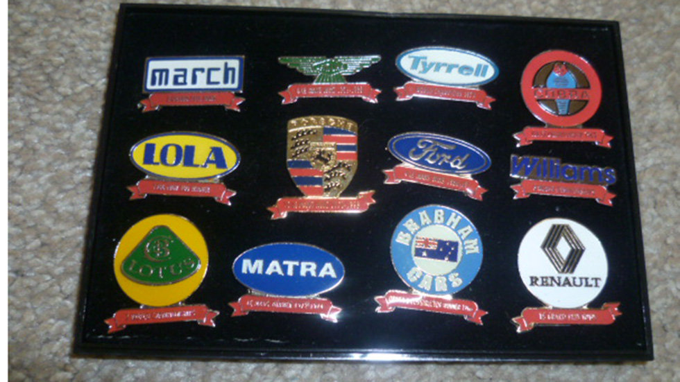 Racing Lapel Badges Selection To Include-lotus/porcshe/ford Ect