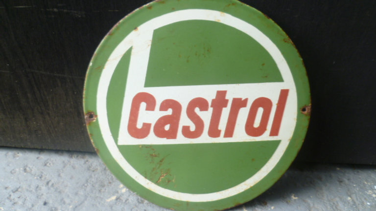 Castrol Round Enamel Sign