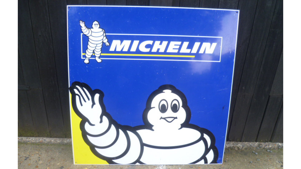 Michelin Tin Sign Circa 1990s