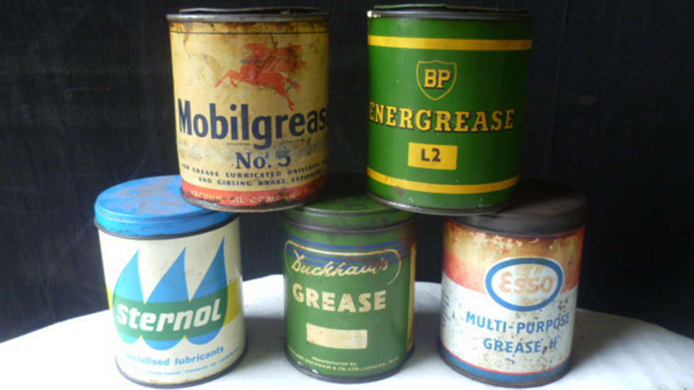 Various Makes Grease Tins