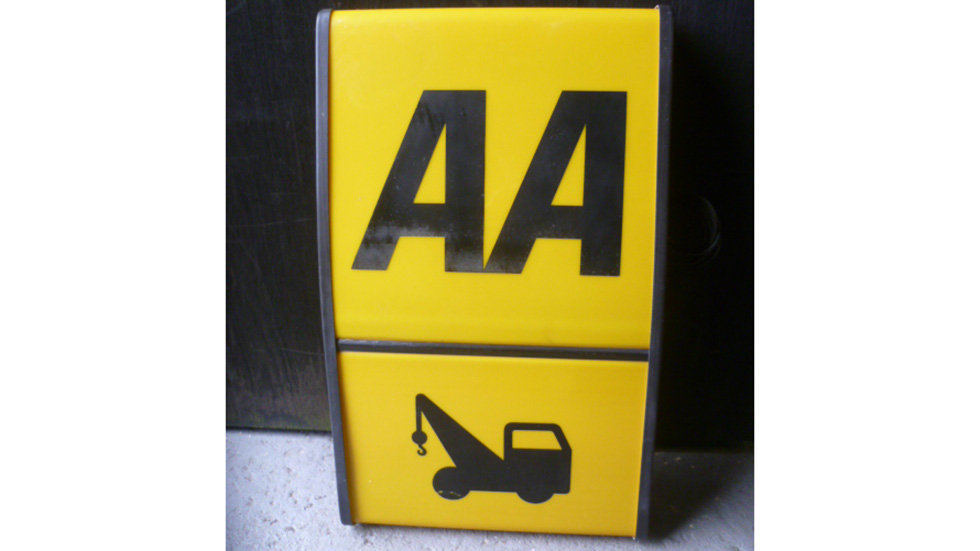 AA Recovery Sign 1970's