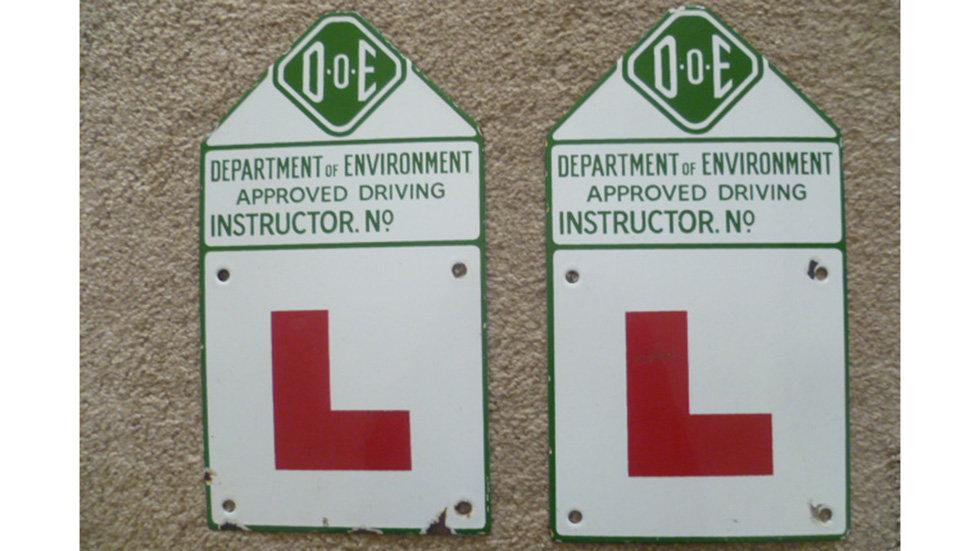 Pair Of Doe Enamel Learner Plates